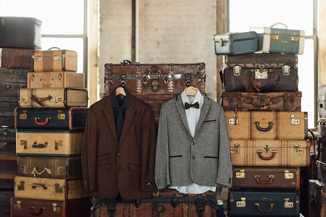suits and suitcases