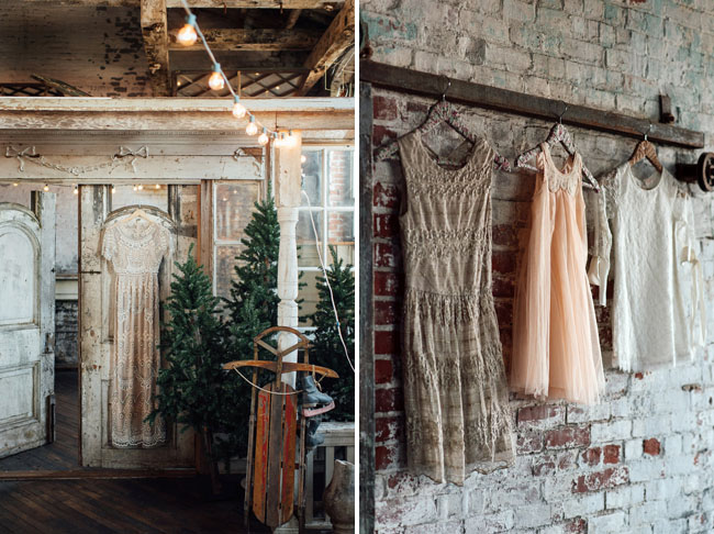hanging lace dresses