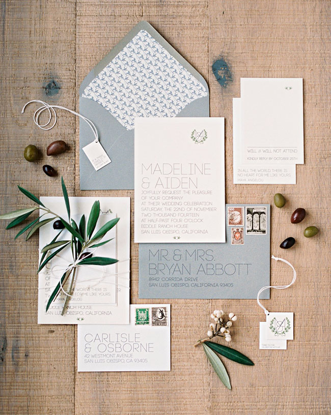 powder blue invitation