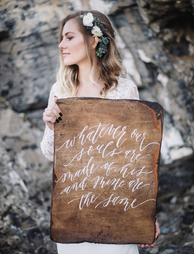 wooden calligraphy quote