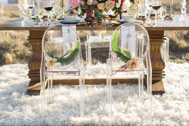 fern flower chair decor