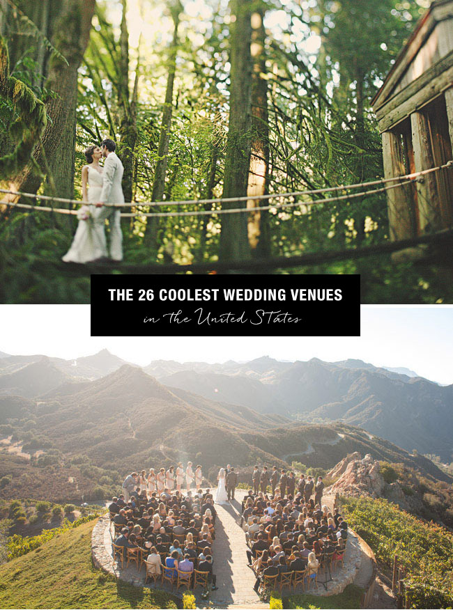 Top 26 Coolest Places To Get Married In The Us Green Wedding Shoes
