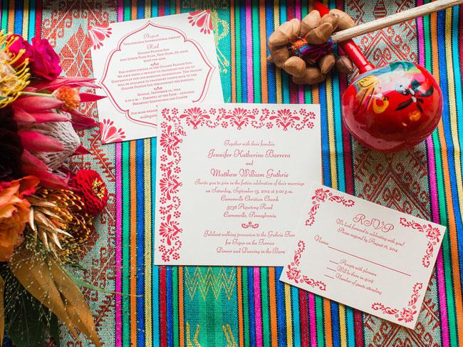 Fiesta inspired invitation