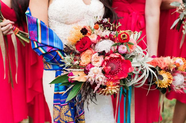 bright fiesta bouquet