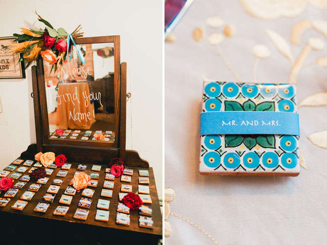 custom wedding tile favor