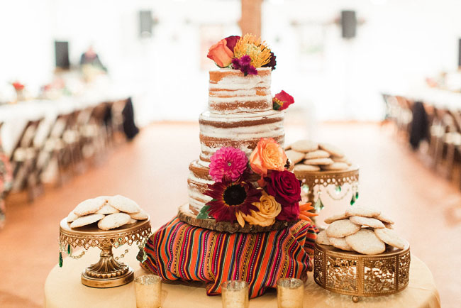 fiesta naked cake
