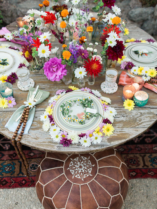 Woodstock inspired tablescape