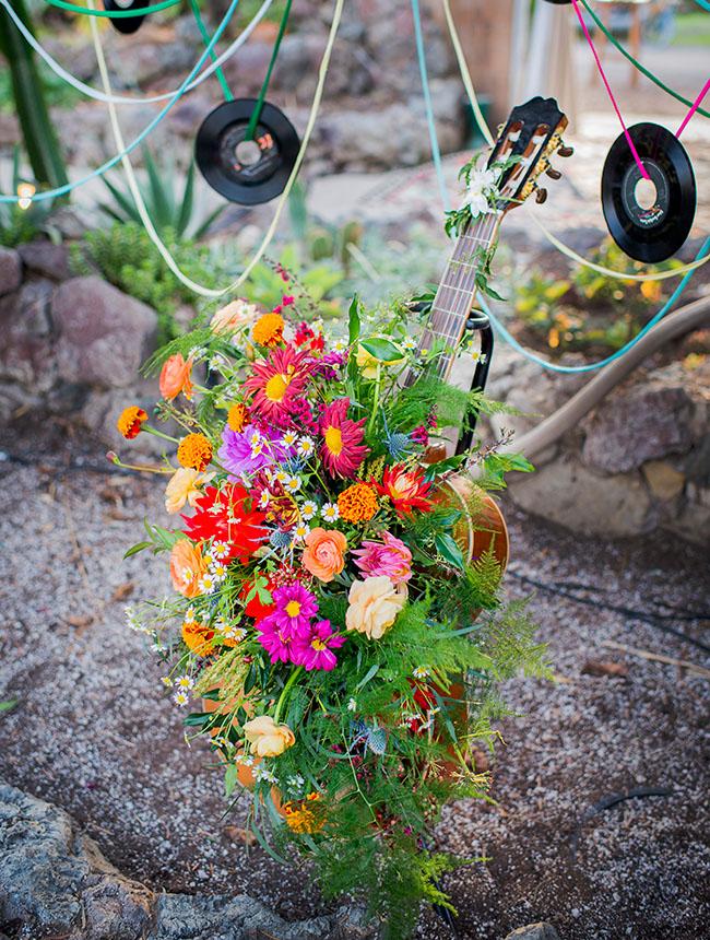 flower filled guitar