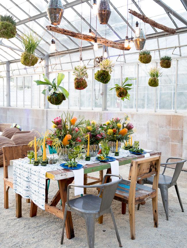 Coachella inspired tablescape