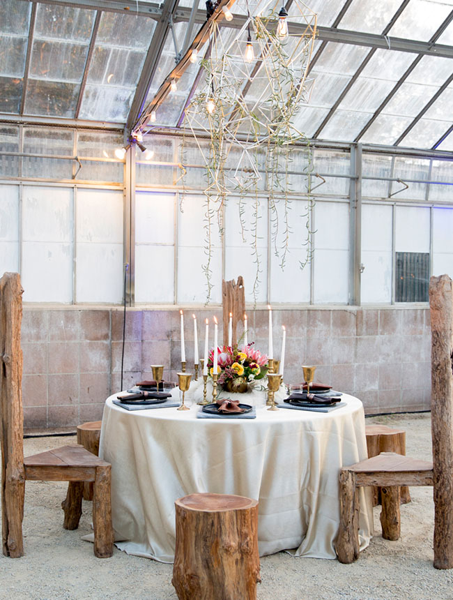 Burning Man inspired tablescape