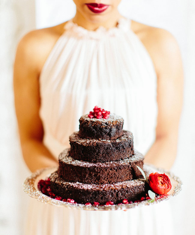 Valentines naked cake