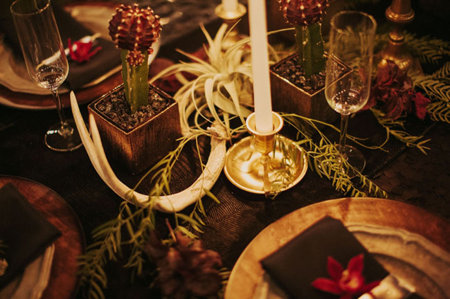 airplant tablescape