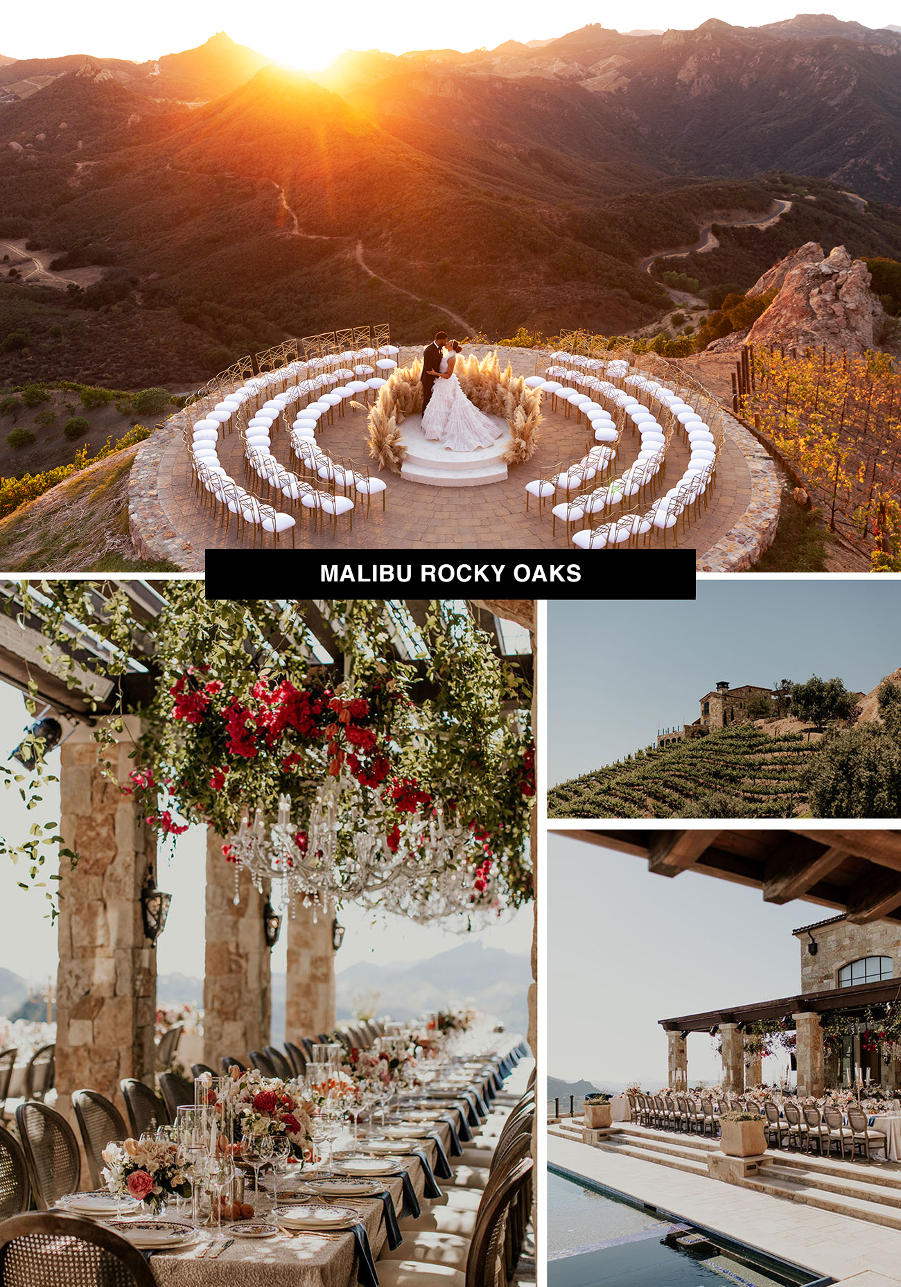 Malibu Rocky Oaks winery and wedding venue in Malibu, California is the ideal California place to get married