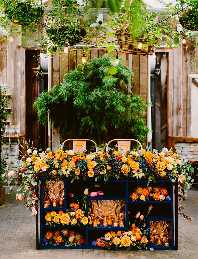 flower filled table
