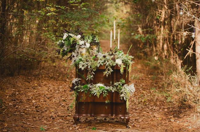 flower filled dresser