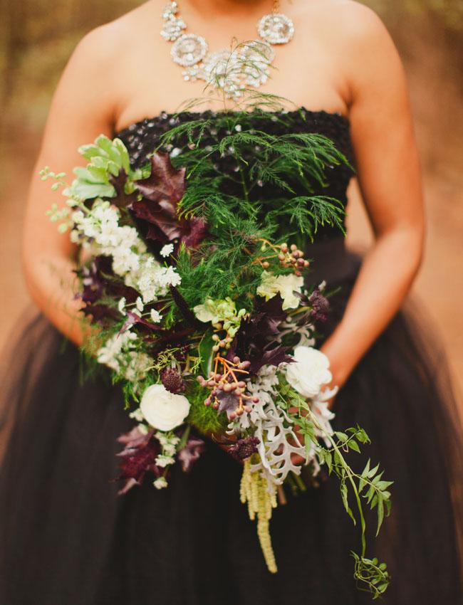 whimsical dark bouquet