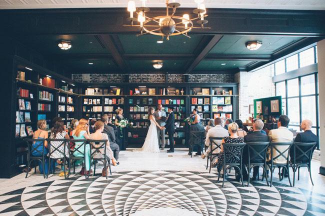 Flower Filled Florida Bookstore Wedding Ali Max Green