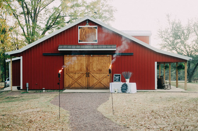 red barn reception