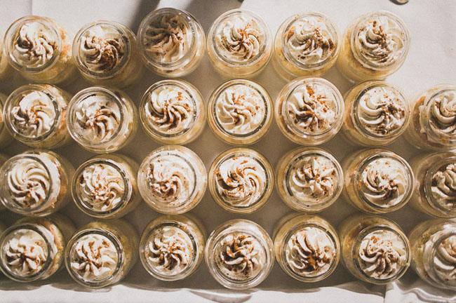 mini desserts in jars