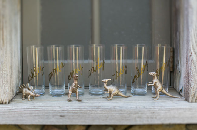 gold decal glasses