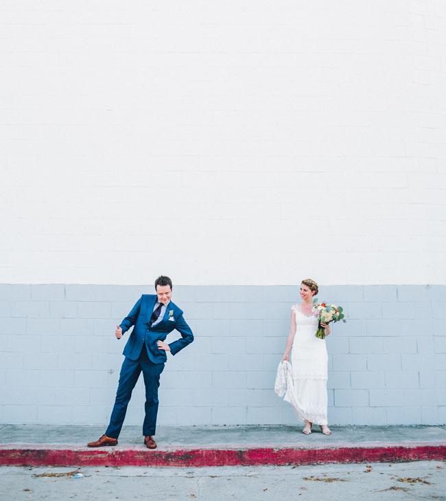 Bright and colorful LA wedding