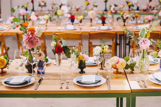 bright and colorful reception
