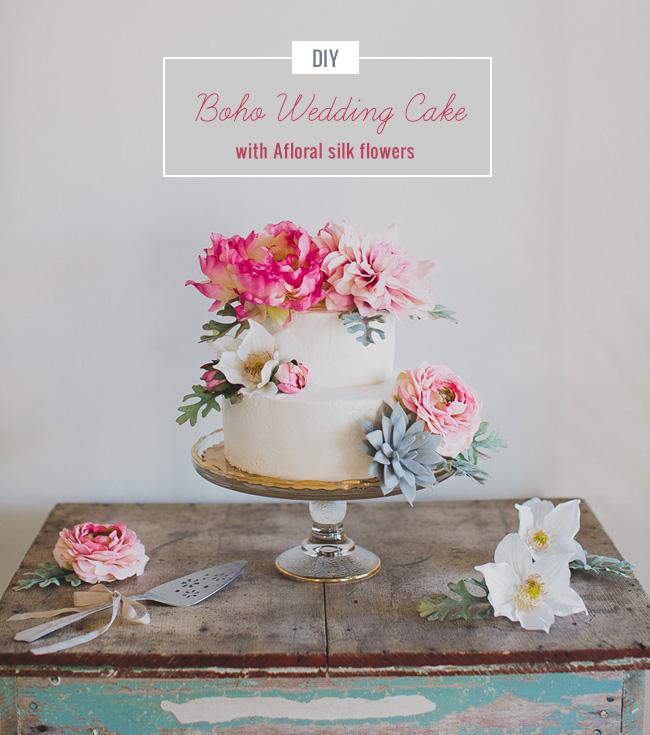 DIY Boho Wedding Cake