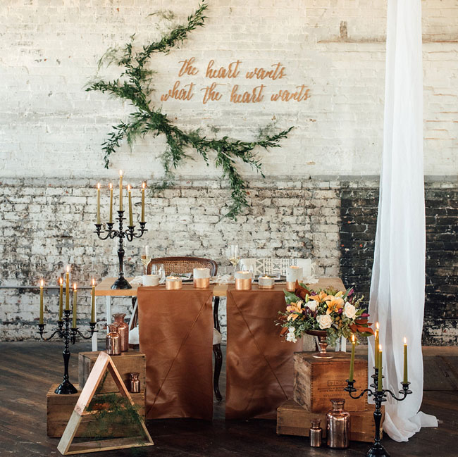 leather tablescape