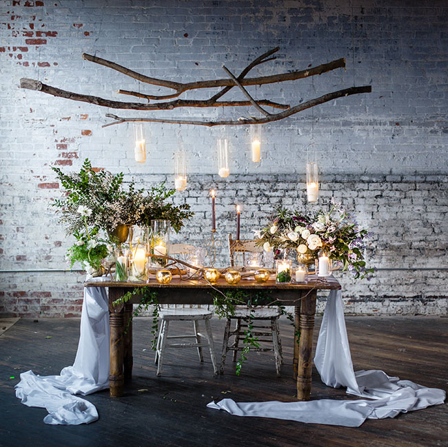 Sweetheart Table Inspiration Green Wedding Shoes