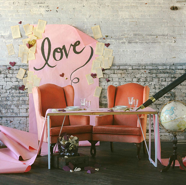 pink love backdrop