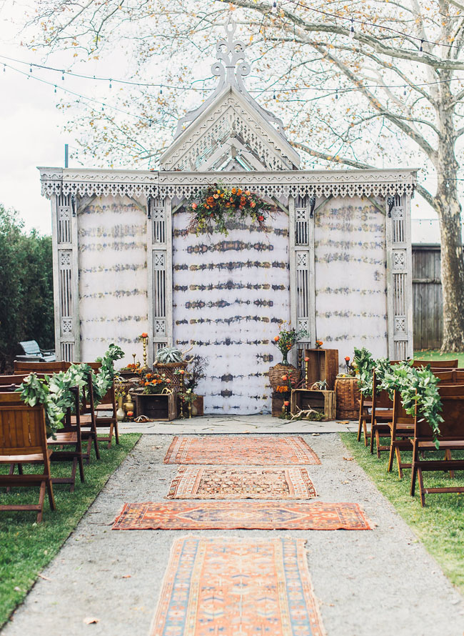 boho terrain ceremony space