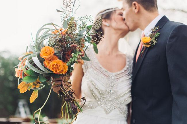 orange airplant bouquet