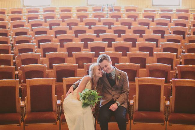 Theater wedding