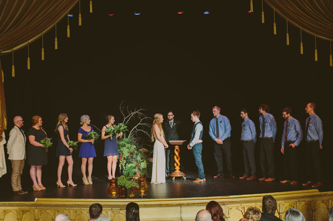 Theater wedding