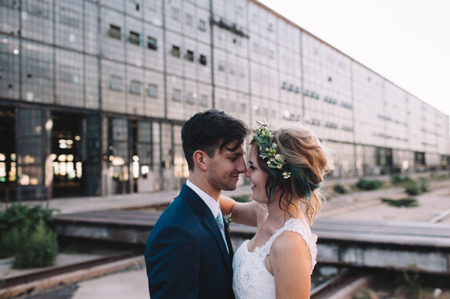 industrial New Mexico wedding