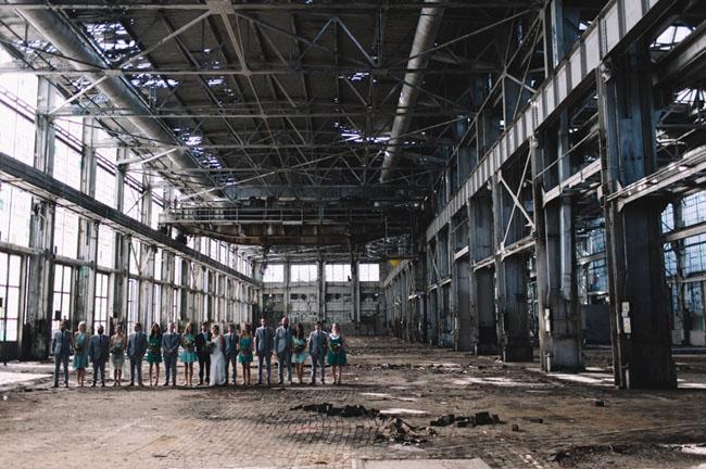 industrial New Mexico wedding