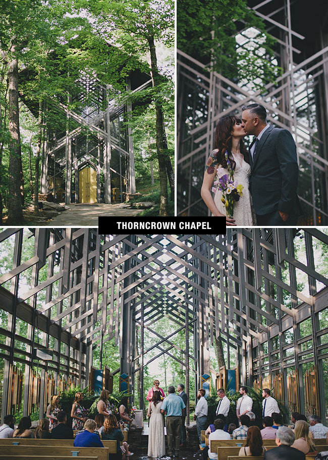 Thorncrown Chapel wedding venue in Arkansaa is a beautiful glass cathedral and visually stimulating place to get married