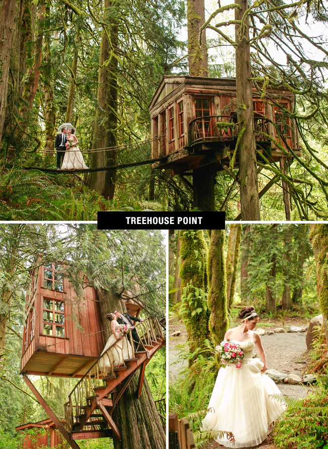 Treehouse Point wedding venue in Washington