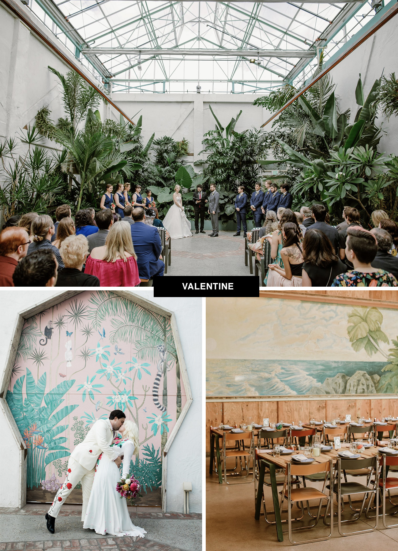 Valentine wedding venue in downtown Los Angeles DTLA - an historic LA place to get married
