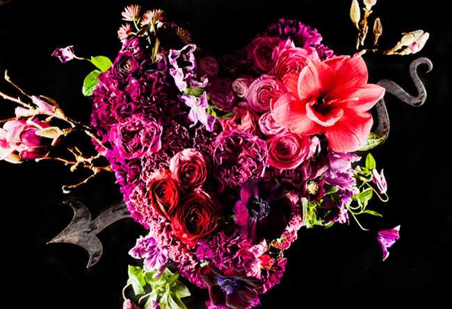 heart shaped flower centerpiece
