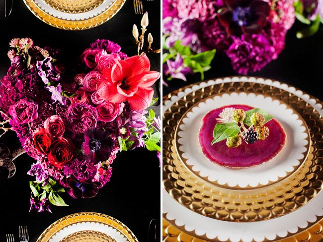 gold edged plates