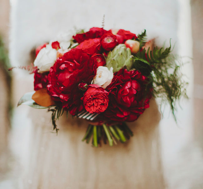 red valentine's inspired bouquet