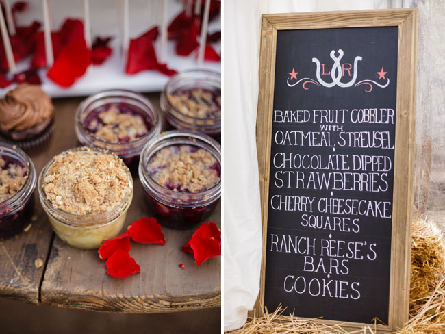chalkboard dessert menu