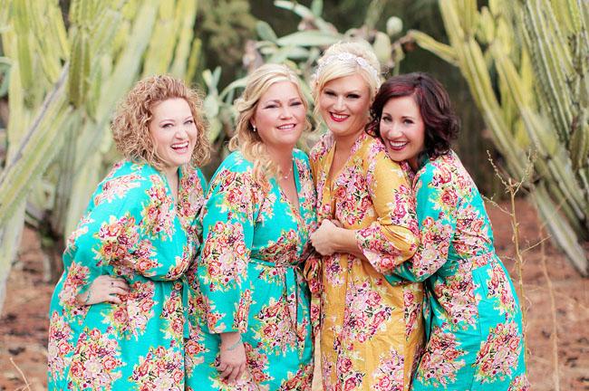 floral bridal robes