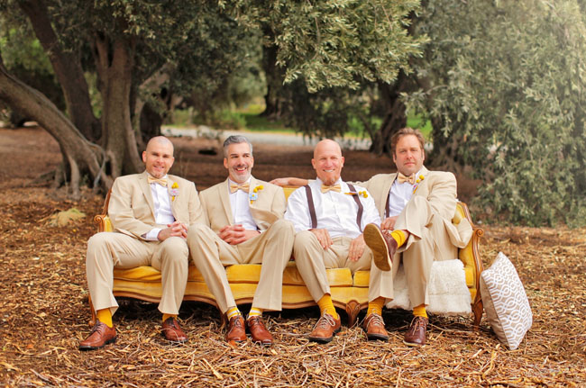 groomsmen on a couch