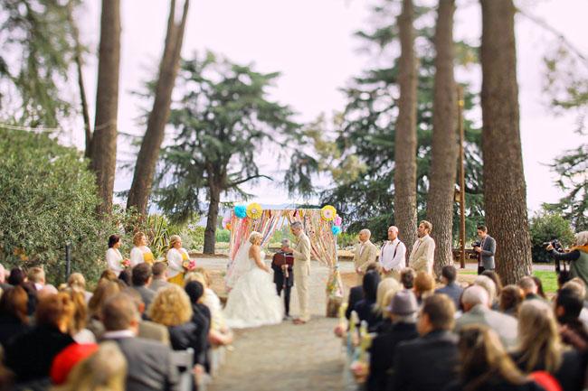 colorful highland springs resort wedding