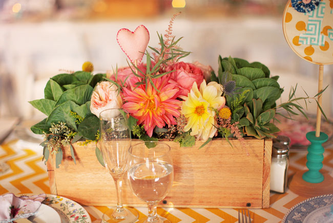heart centerpiece decor