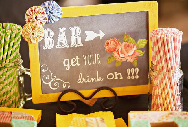 chalkboard bar sign