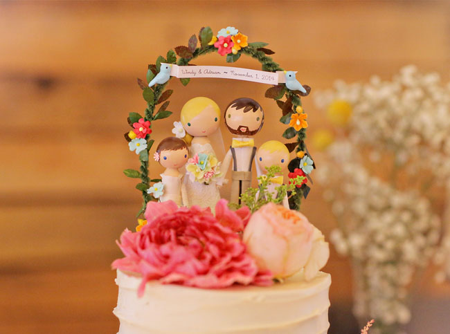 custom clay cake topper