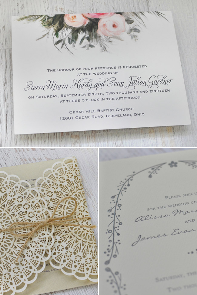 Boho Wedding Invites by Invitations by Dawn - Green Wedding Shoes